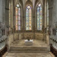Blick in den Westchor mit Stifterensemble, Steinmetzarbeiten aus der Werkstatt des Naumburger Meisters