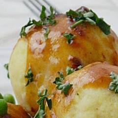 Echte hausgemachte Kartoffelklöße