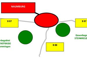 Lageplan der Gewerbegebiete