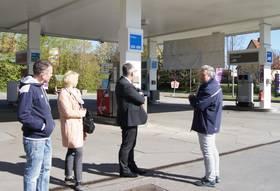 Rundgang durch die Esso Station, Frank Theml ©Stadtverwaltung Naumburg (Saale)