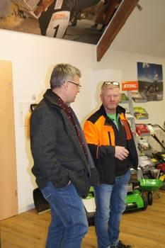Oberbürgermeister, Bernward Küper, im Gespräch mit Udo Nägler ©Stadtverwaltung Naumburg (Saale)