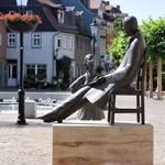 Nietzsche Denkmal in Naumburg auf dem Holzmarkt